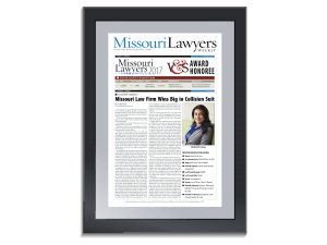 Missouri Lawyers Awards 2020 Commemorative Plaque