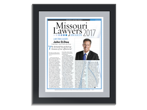 Missouri Lawyers Awards Frameable Reprint